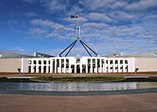 Photograph of the new Australian Parliament House.