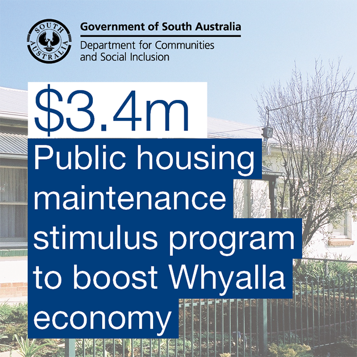 Housing SA Stimulus Project to boost employment in Whyalla