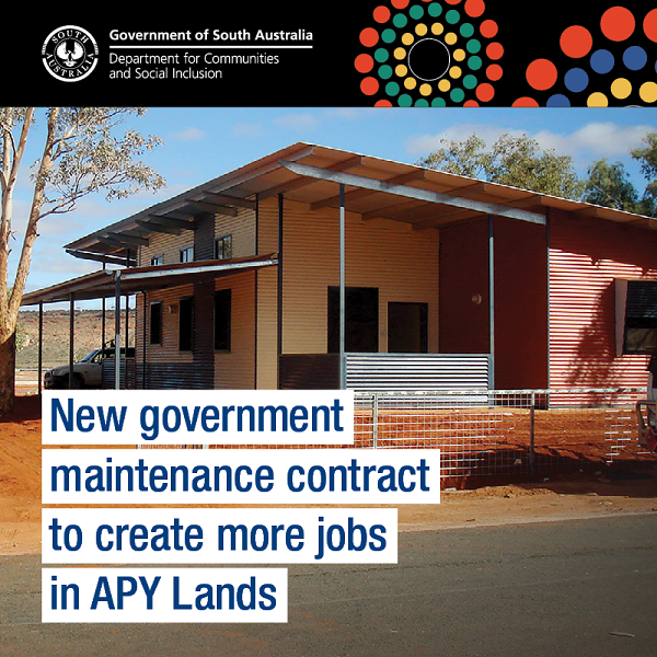 More jobs thanks to new APY Lands maintainence contract
