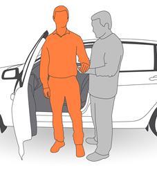 1. Position client beside vehicle.