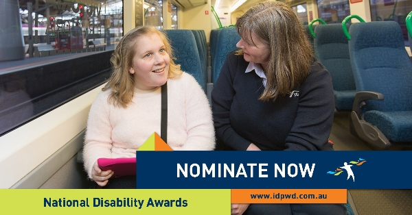 International Day of Persons with a Disability call for nominations featuring lady with mentee