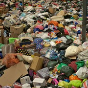 Piles of excess donations