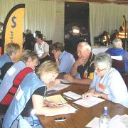 People signing up for emergency relief