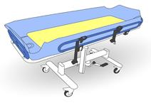 Illustration of a shower trolley