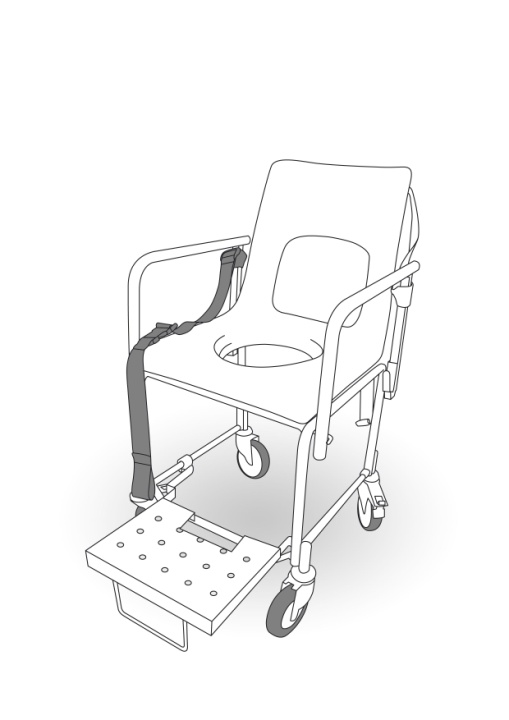 Illustration of a shower chair